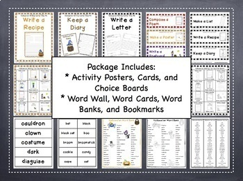 Writing Center | Writing Center Activities | Halloween Writing Activities
