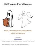 Halloween Regular Plural Nouns