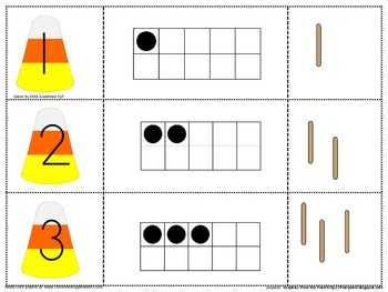 Halloween 0-20 puzzles-Number, tens frame, bundles