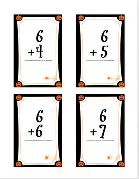 Halloween 0-9 Addition Flashcards