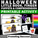 Halloween Craft Activities Little Book Reading Comprehension Puppets Craftivity