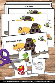 Halloween Craft Activities Little Book Reading Comprehension Puppets Craftivity