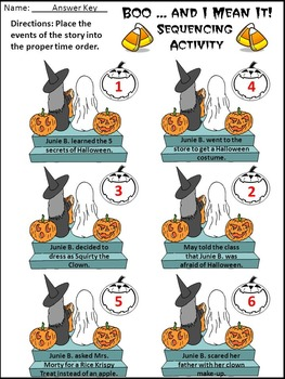 Halloween Activities: Boo & I Mean It Halloween Reading Activity Packet