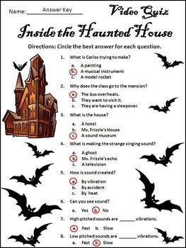 Halloween Activities: Going Batty Magic Bus Halloween Video Activity Packet