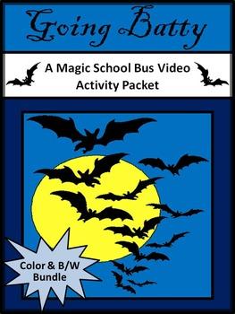 Halloween Activities: Going Batty Magic School Bus Activity Bundle - Color + B/W