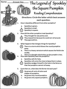 Halloween Reading Activities: Spookley the Square Pumpkin Activity Packet