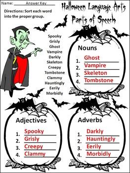 Halloween Activities: Halloween Language Arts Activity Packet