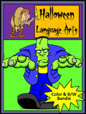 Halloween Activities: Halloween Language Arts Activity Packet Bundle -Color&BW