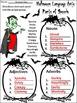 Halloween Activities: Halloween Language Arts Activity Packet Bundle -Color&BW