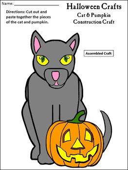 Halloween Activities: Halloween Crafts Activity Packet Bundle - Color & B/W