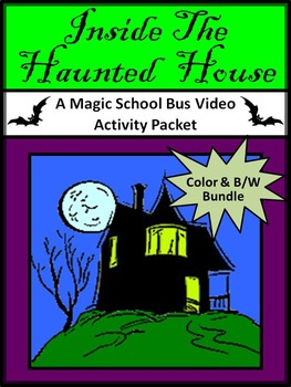 Halloween Activities: Creepy Crawly Fun Magic School Bus Bundle - Color & BW