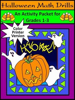 Halloween Worksheet Activity Packet: Halloween Math Drills