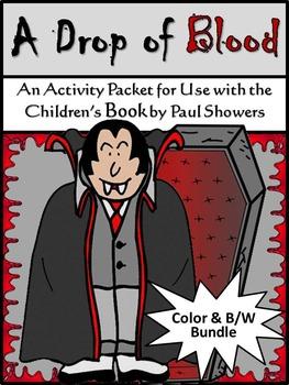 Halloween Activities: A Drop of Blood Activity Packet Bundle - Color & B/W