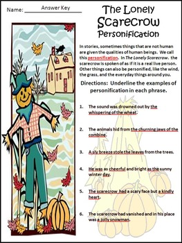 Halloween Activities: The Lonely Scarecrow Activity Packet - Color Version