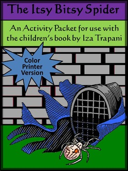 Halloween Activities: Itsy Bitsy Spider Activity Packet