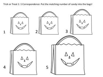 Halloween 1:1 Correspondence (No Prep, Just Print!)