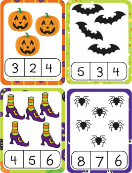 Halloween 0-10 Counting Mats, Ten Frames, Clip Cards and Practice Pages Bundle