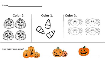 Halloween 1-2-3 Counting