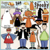Halloween Clip Art 1 - Trick or Treat Clip Art - Costumes