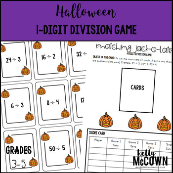 Halloween 1-Digit Division Game
