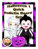 Halloween 1 Quick Bulletin Board Set