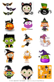 Halloween 1 inch Squares - great for magnets!