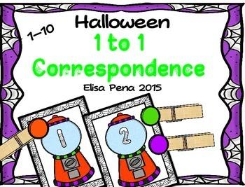 Halloween 1 to 1 Correspondence