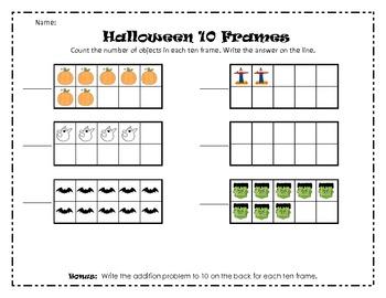 Halloween 10 Frames