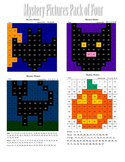 Halloween Math 100 Chart Mystery Pictures (Pack of 4)