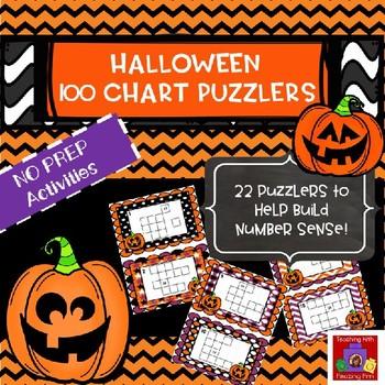 Halloween 100 Chart Puzzler