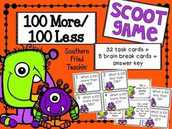 Halloween More Less Math Scoot