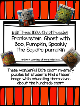 Halloween 100s Chart Mystery Puzzles