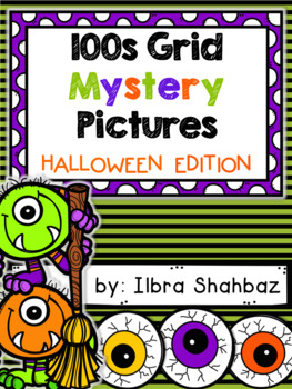 Halloween 100s Grid Mystery Picture Puzzles