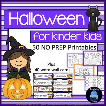 Halloween Activities: Halloween Math and Language for Kindergarten