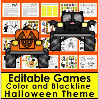 Halloween Activities Bundle:Readers, Sight Words, Adding, Blending, SkipCounting