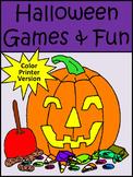 Halloween Game Activities: Halloween Games & Fun Activity Packet - Color Version