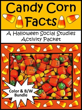 Halloween Activities: Candy Corn Facts Activity Packet Bundle - Color + B/W