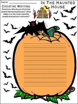Halloween Reading Activities: In the Haunted House Halloween Activity Packet