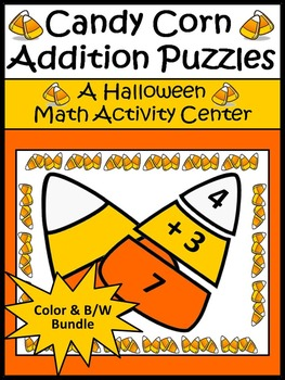 Halloween Activities: Candy Corn Addition Puzzles Hallowee