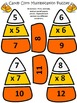 Halloween Activities: Candy Corn Multiplication Puzzles Ha
