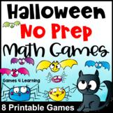 Halloween Math Activities: No Prep Halloween Math Games