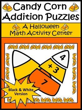 Halloween Math Activities: Candy Corn Addtion Puzzles Halloween Math Activity