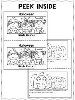 Mini Book and Activities - Halloween