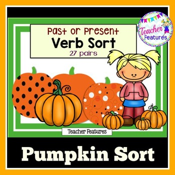 Halloween Pumpkins Word Sorts (Past or Present Verbs)