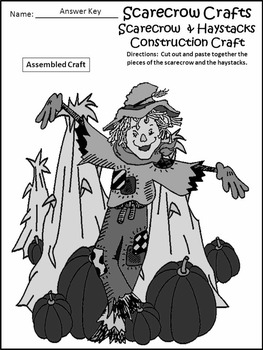 Halloween Activities: Scarecrow Crafts Activity Packet