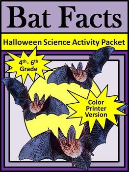 Halloween Activities: Bat Facts Science Activity Packet
