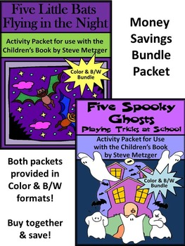 Halloween Reading Activities: Five Little Bats & Five Spoo