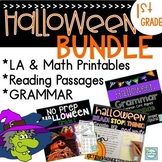 Halloween 1st Grade BUNDLE ~ Halloween Literacy ~ Halloween Reading Passages