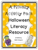 Halloween Literacy Worksheets and Activities for Primary