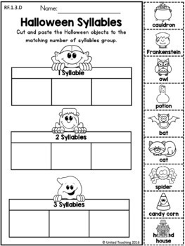 Halloween Literacy Worksheets (1st Grade) by United ...